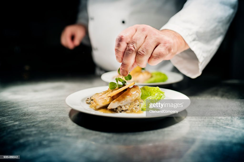 Professional Chef at Work : Stock Photo