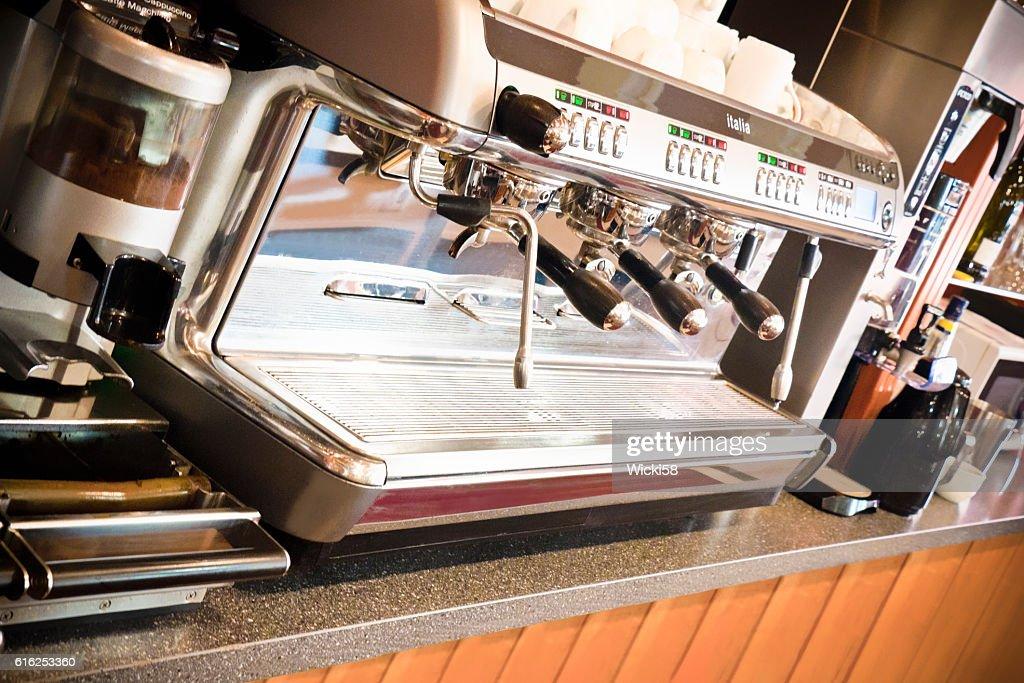 Profissional Máquina de Café : Foto de stock