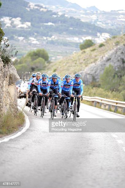 Professional cycling team Garmin-Sharp photographed whilst training on the roads around Calpe, Spain, January 16, 2013.