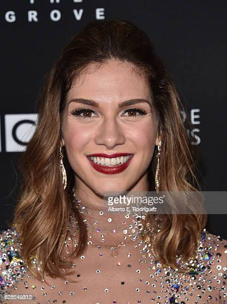 Professional dancer Allison Holker attends ABC's Dancing With The Stars Season 23 Finale at The Grove on November 22 2016 in Los Angeles California