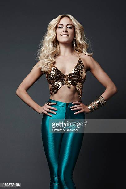 Professional dancer and cast member of the reality competition show Dancing with the Stars Peta Murgatroyd is photographed for Us Weekly on May 23...
