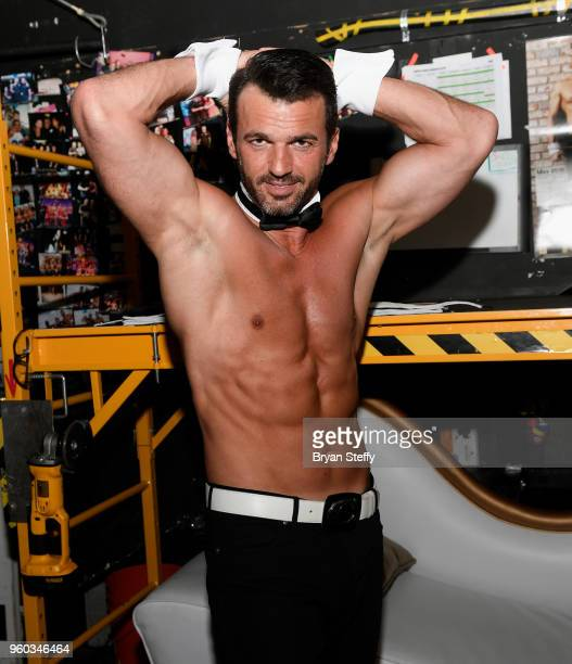 Professional Dancer and Chippendales celebrity guest host Tony Dovolani attends Chippendales at the Rio Hotel Casino on May 19 2018 in Las Vegas...