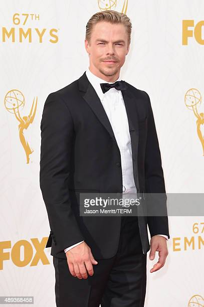 Professional dancer and tv personality Derek Hough attends the 67th Annual Primetime Emmy Awards at Microsoft Theater on September 20 2015 in Los...
