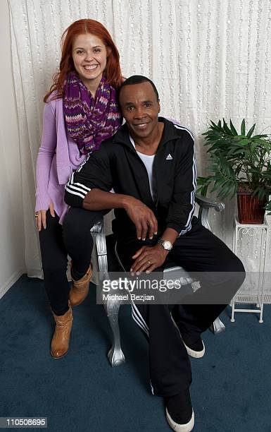Professional dancer Anna Trebunskaya and Sugar Ray Leonard attends the Gifting Services Suite Honoring Dancing With The Stars Day 1 at CBS Studios on...
