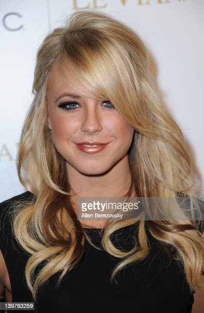 Professional dancer Chelsie Hightower attends OK Magazine PreOscar Party Arrivals at Greystone Manor Supperclub on February 23 2012 in West Hollywood...