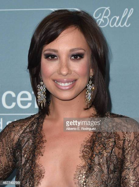 Professional dancer Cheryl Burke arrives to the 2014 UNICEF Ball Presented by Baccarat at the Regent Beverly Wilshire Hotel on January 14 2014 in...