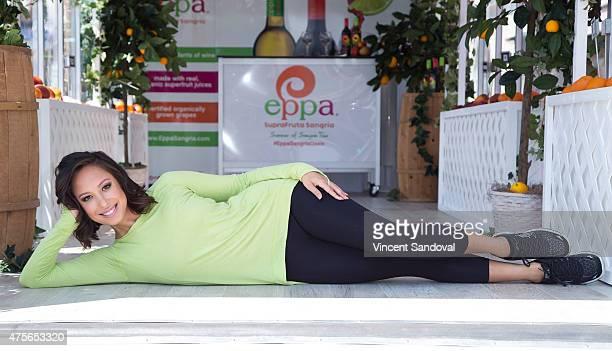 Professional Dancer Cheryl Burke kicks off Eppa Sangria Organic Oasis Summer of Sangria Tour in West Hollywood on June 2 2015 in West Hollywood...