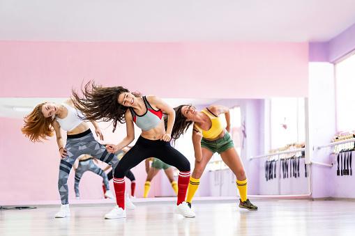 Professional dancer class dancing in dancing studio 1170865144