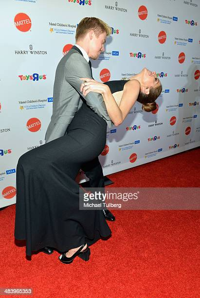 Professional dancer Derek Hough and TV host Maria Menounos attend the second annual Kaleidescope Ball at Beverly Hills Hotel on April 10 2014 in...