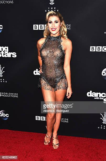 Professional dancer Emma Slater attends ABC's Dancing With The Stars Season 23 Finale at The Grove on November 22 2016 in Los Angeles California
