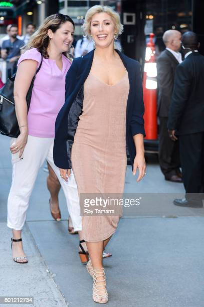 Professional dancer Emma Slater leaves the 'Good Morning America' taping at the ABC Times Square Studios on June 26 2017 in New York City