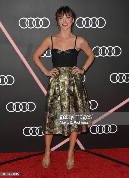 Professional dancer Karina Smirnoff arrives to Audi Celebrates Golden Globes Weekend at Cecconi's Restaurant on January 9 2014 in Los Angeles...