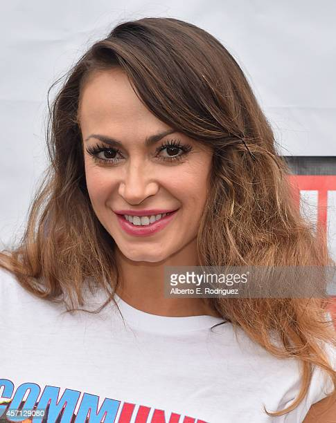 Professional dancer Karina Smirnoff attends the 30th Annual AIDS Walk Los Angeles on October 12 2014 in West Hollywood California