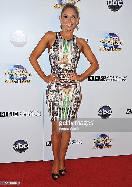 Professional dancer Kym Johnson arrives at ABC's 'Dancing With The Stars' 300th Episode Celebration at Boulevard3 on May 14 2013 in Hollywood...