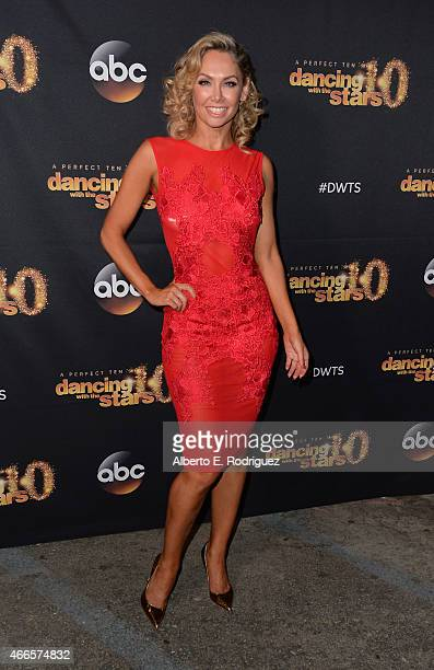 Professional dancer Kym Johnson attends the premiere of ABC's Dancing With The Stars season 20 at HYDE Sunset Kitchen Cocktails on March 16 2015 in...