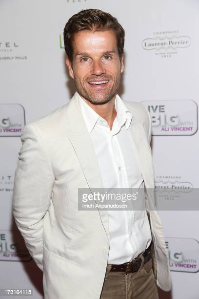 Professional dancer Louis Van Amstel attends the premiere of Live Well Network's 'Live Big With Ali Vincent' Season 3 at Sofitel Hotel on July 8 2013...
