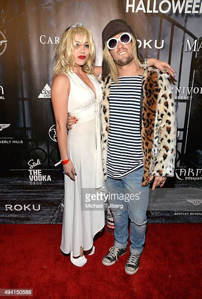 Professional dancer Mark Ballas and BC Jean attend The Official MAXIM Halloween Party produced by Karma International on October 24, 2015 in Beverly...