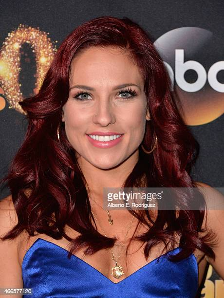 "Professional dancer Sharna Burgess attends the premiere of ABC's ""Dancing With The Stars"" season 20 at HYDE Sunset: Kitchen + Cocktails on March 16,..."