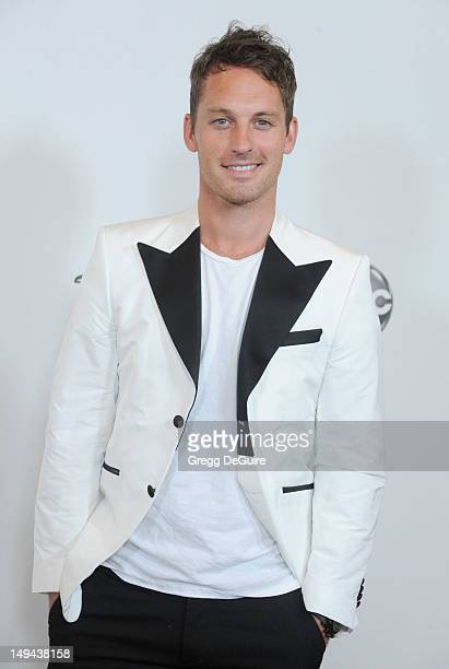 Professional dancer Tristan MacManus arrives at the 2012 Disney ABC Television TCA summer press tour party at The Beverly Hilton Hotel on July 27...