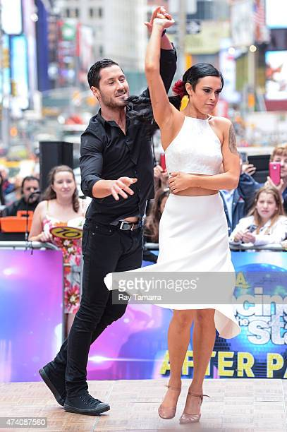 Professional dancer Valentin Chmerkovskiy and actress Rumer Willis perform at Good Morning America at ABC Times Square Studios on May 20 2015 in New...