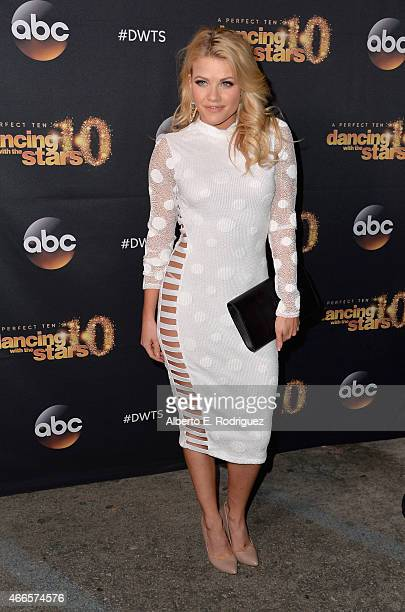 Professional dancer Whitney Carson attends the premiere of ABC's 'Dancing With The Stars' season 20 at HYDE Sunset Kitchen Cocktails on March 16 2015...