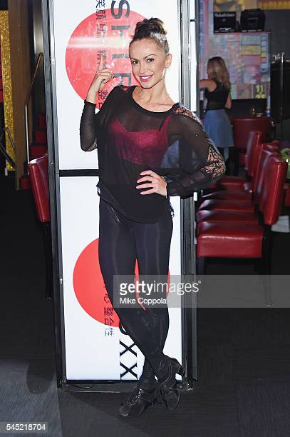Professional dancer/choreographer Karina Smirnoff poses for a picture during ROXX RELOADED Behind The Scenes at Sushi Roxx on July 6 2016 in New York...