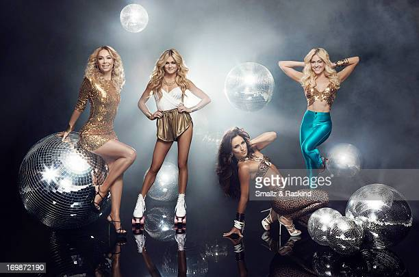 Professional dancers and cast members of the reality competition show 'Dancing with the Stars' Peta Murgatroyd Kym Johnson Lindsay Arnold Sharna...