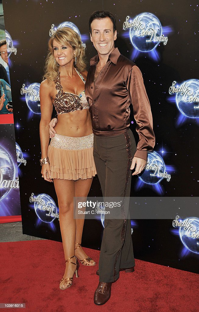 Professional dancers Erin Boag (L) and Anton Du Beke attend the 'Strictly Come Dancing' Season 8 Launch Show at BBC Television Centre on September 8, 2010 in London, England.