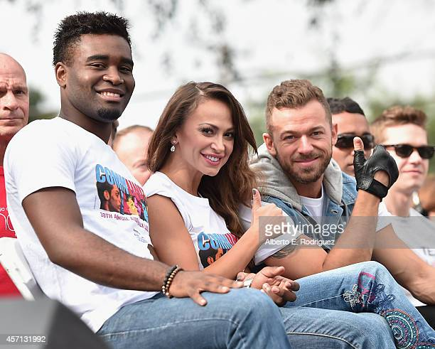 Professional dancers Keo Motsepe Karina Smirnoff and Artem Chigvintsev attend the 30th Annual AIDS Walk Los Angeles on October 12 2014 in West...
