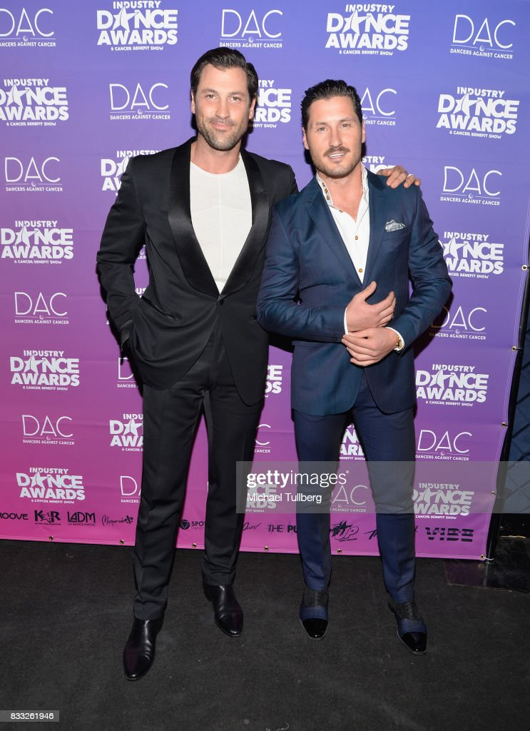 Professional dancers Maksim Chmerkovskiy and Val Chmerkovskiy attend the 2017 Industry Dance Awards and Cancer Benefit Show at Avalon on August 16, 2017 in Hollywood, California.