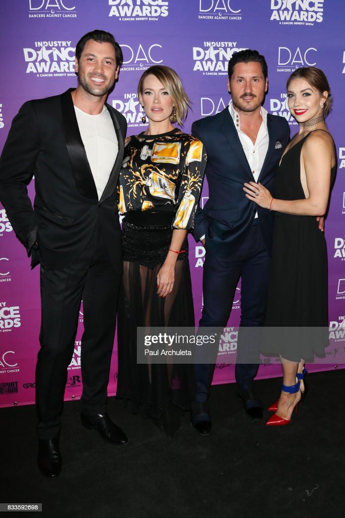 Professional Dancers Maksim Chmerkovskiy, Peta Murgatroyd, Val Chmerkovskiy and Jenna Johnson attend the 2017 Industry Dance Awards and Cancer Benefit show at Avalon on August 16, 2017 in Hollywood, California.