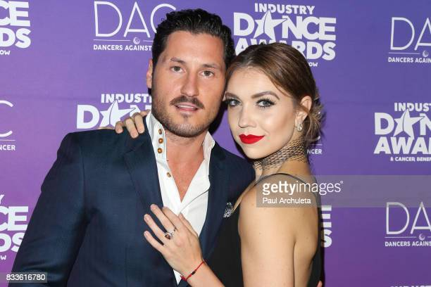 Professional Dancers Val Chmerkovskiy and Jenna Johnson attend the 2017 Industry Dance Awards and Cancer Benefit show at Avalon on August 16 2017 in...