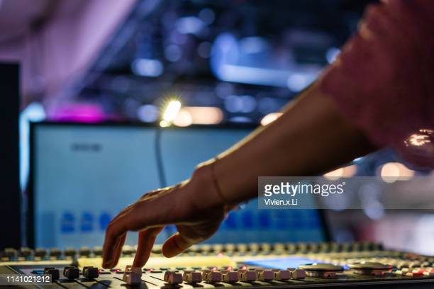 professional digital sound and recording console - editor stock pictures, royalty-free photos & images