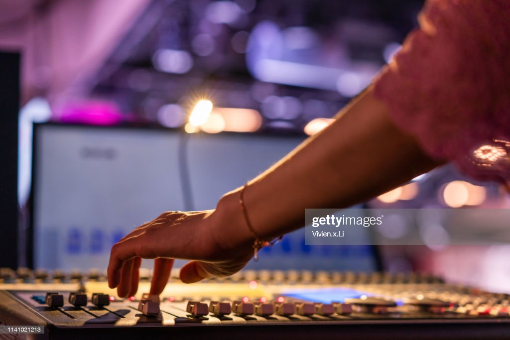 Professional Digital Sound and Recording Console : Stock Photo