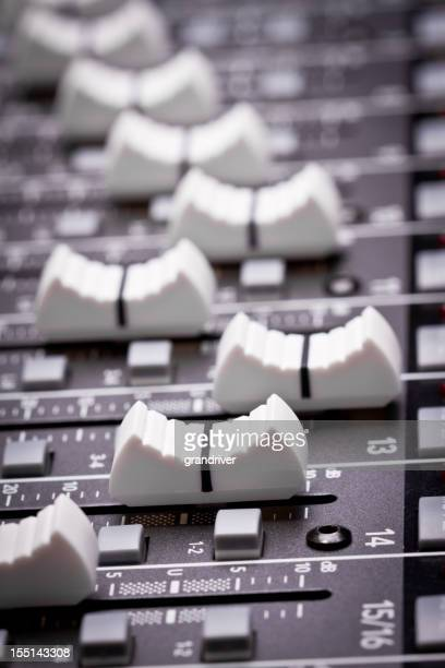 professional digital sound and recording console - post-production stock pictures, royalty-free photos & images
