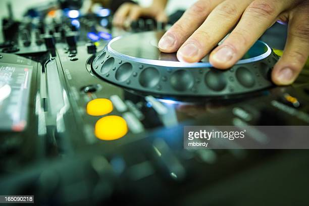 Professional DJ at party