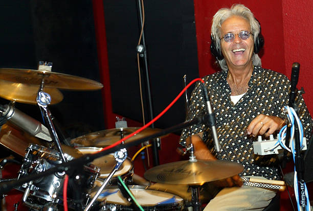 professional drummer eddie tuduri flashes a smile during a recording session at sound asylum in cano