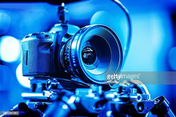 Professional DSLR camera with cinema lens