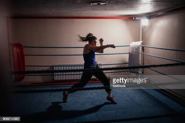 Professionelle Boxerin