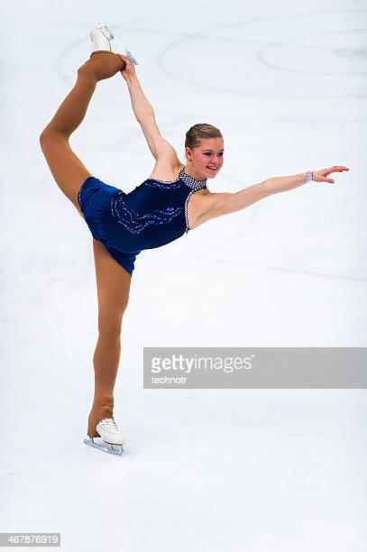 Professional Female Skater in the Action