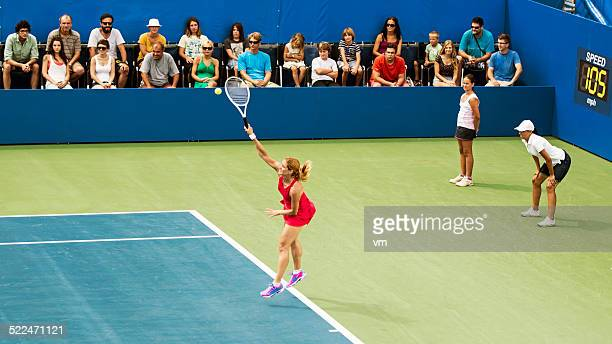 Professional Female Tennis Player Serving