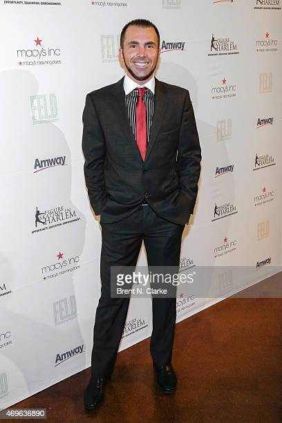 Professional figure skater Michael Weiss arrives for The 10th Annual Skating With The Stars Benefit Gala held at 583 Park Avenue on April 13 2015 in...