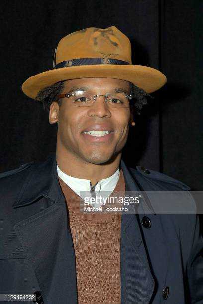 Professional football Cam Newton attends the BOSS Womenswear and Menswear fashion show during New York Fashion Week on February 13 2019 in New York...