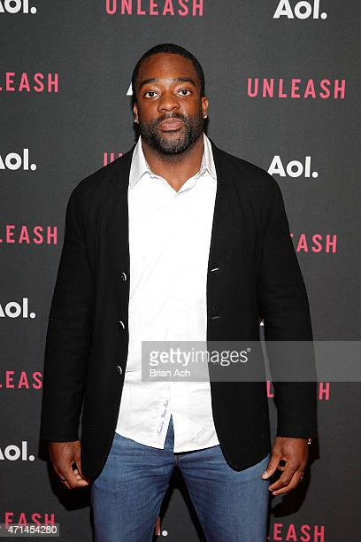 Professional football player Andre Williams attends the AOL 2015 Newfront on April 28 2015 in New York City
