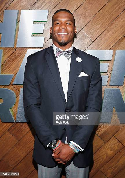 Professional football player Cam Newton attends The Players' Tribune Summer Party at No Vacancy on July 12 2016 in Los Angeles California