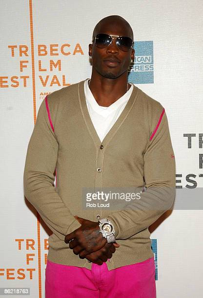 Professional football player Chad Ocho Cinco attends a screening of 'Kobe Doin' Work' during the 2009 Tribeca Film Festival at BMCC Tribeca...