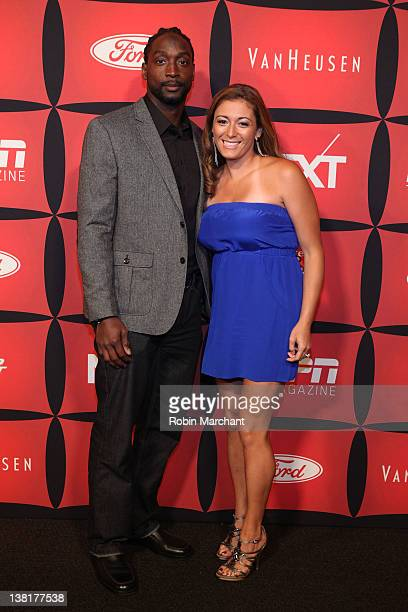 Professional football player Charles Tillman and Jackie Tillman attend ESPN The Magazine's NEXT Event on February 3 2012 in Indianapolis Indiana
