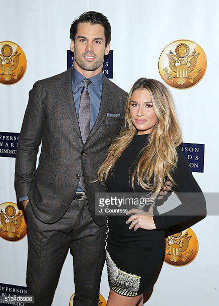 Professional Football Player Eric Decker and singer Jessie James Decker attend the Jefferson Awards Foundation's 5th Annual NYC National Ceremony at...