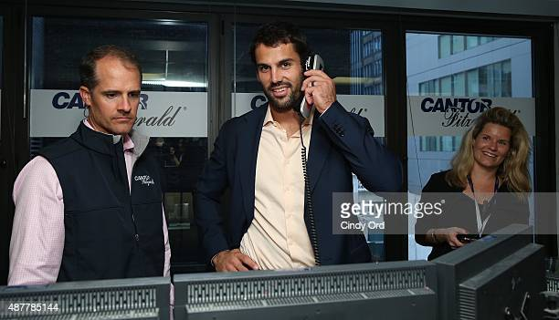 Professional football player Eric Decker attends the annual Charity Day hosted by Cantor Fitzgerald and BGC at Cantor Fitzgerald on September 11 2015...