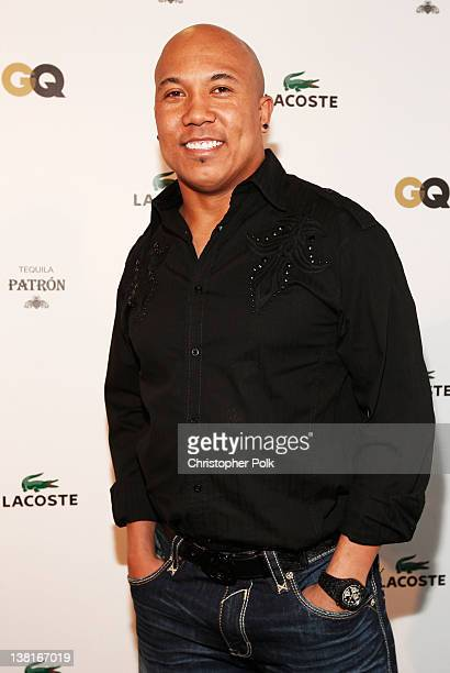 Professional football player Hines Ward attends GQ Lacoste And Patron Tequila Celebrate The Super Bowl In Indianapolis at The Stutz Building on...